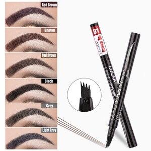 Image 2 - 6 Tint Dye กันน้ำดินสอเขียนคิ้ว eyebrow SHADOW สำหรับคิ้วแต่งหน้ากันน้ำ Long Lasting Sketch Liquid eyebrow WAX