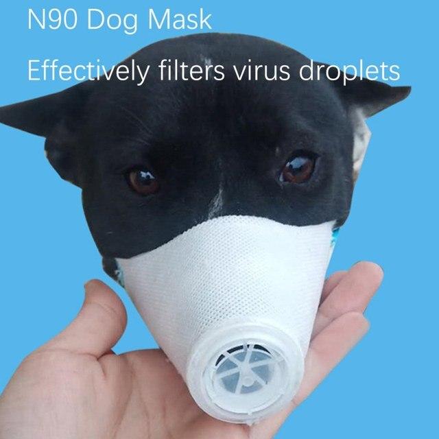 Pet Dog Dust And Antibacterial Mask Anti-Haze For Dogs Outdoor Travel Supplies Anti Virus Flu Masks Pet Dog Cat  Protection 3