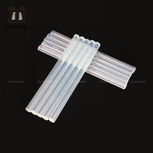 Купить с кэшбэком (10PCS/Lot) Non-Toxic Transparent 11mm X190mm Hot Melt Glue Sticks for DIY