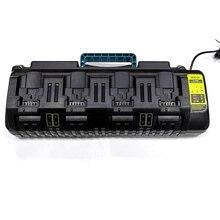 4 socket Li-Ion Battery Charger 3A Max for Dewalt 10.8V 14.4V 18V 20V 60V  DCB105 DCB101 DCB102 DCB112 with Dual USB port
