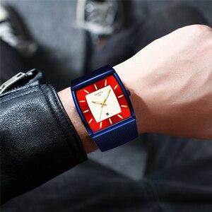 Image 5 - Relogio Masculino NIBOSI Luxus Marke Uhr Männer Edelstahl Mesh Band Quarz Sport Männer Uhr Chronograph Platz Uhr Uhr