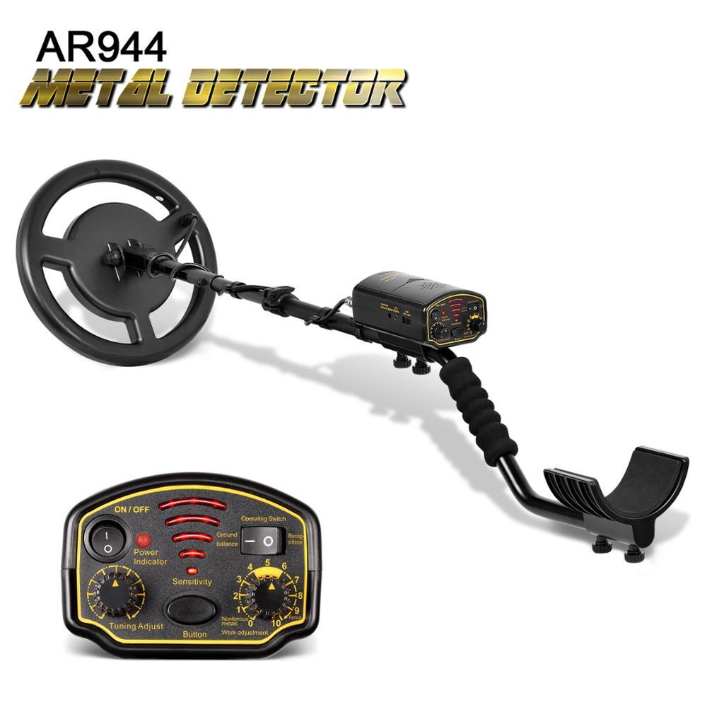 Détecteur de métaux souterrain étanche Depth1.5m/3 m AR944M Scanner Finder or pelle trésor chasseur 1200mA li-recherche de batterie