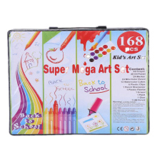 168 Pcs/Set Drawing Tool Kit with Box Painting Brush Art Marker Water Color Pen Crayon Kids Gift  Deals school supplise