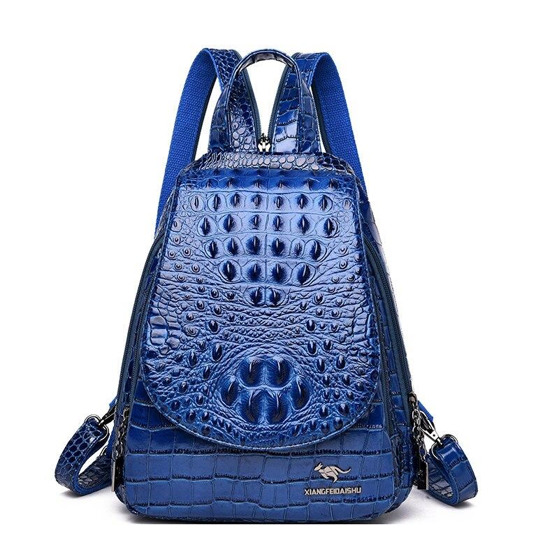 Image 3 - Women Leather Backpacks High Quality Sac A Dos Rucksacks For  Girls Vintage Bagpack Solid Ladies Travel Back Pack School  FemaleBackpacks