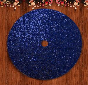 Spódniczki na choinkę 48 Cal granatowa okrągła cekinowa spódnica na drzewo dla małego drzewa świąteczny dywan drzewo Decorations-M1023