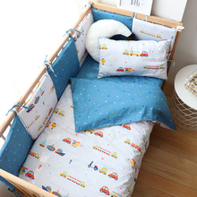 Baby Bedding Set For Boy Girl Nordic Cotton Baby Bed Linen For Newborns Kids Crib Bedding With Bumper Cot Kit Allow Custom Size