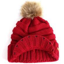 KLV 2019 New European Men Women Knitted Cap Baggy Warm Crochet Winter Wool Knit Ski Beanie Skull Slouchy Caps Hat