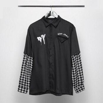 Owen Seak Men Casual Shirts High Street Style Men's Clothing Spring Male Spring Shirts