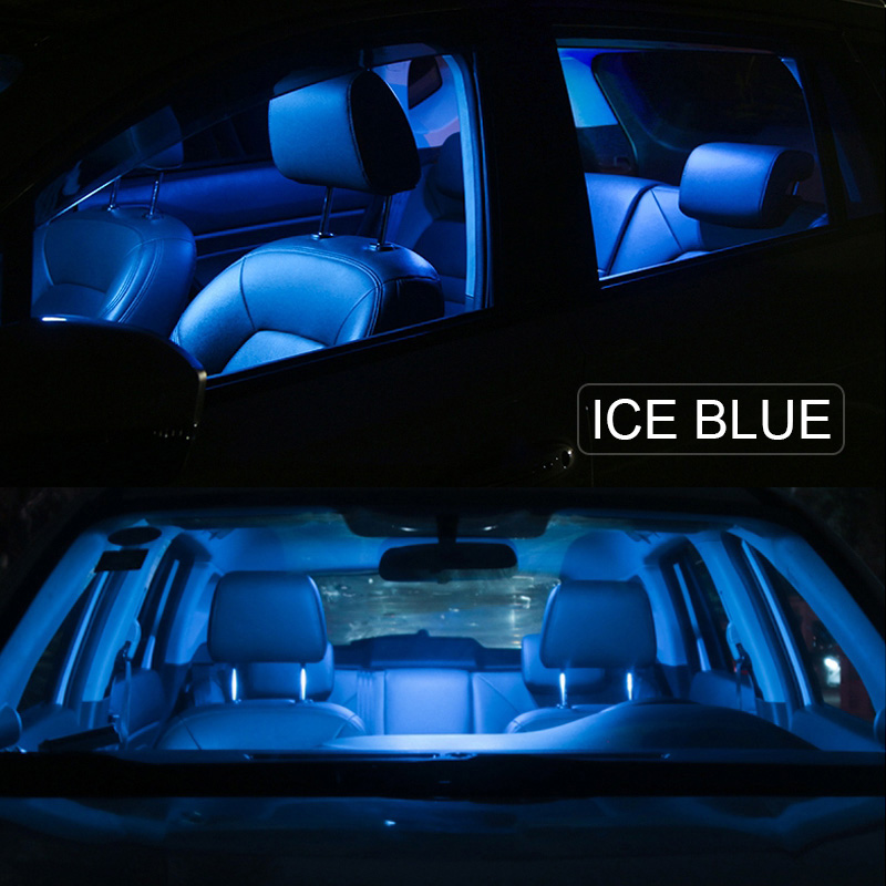 14pcs LED ICE Blue Light Interior Package Kit for Chevy Trailblazer 2002-2009