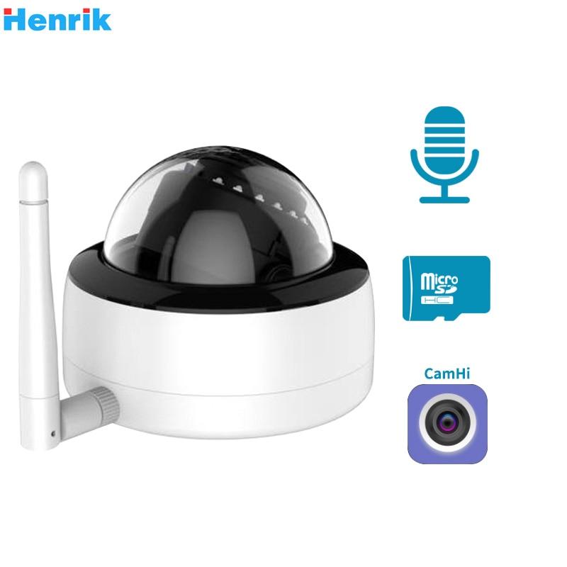 HD 5MP Dome Wifi IP Camera ONVIF 1080P Wireless Wired CCTV Audio Wireless Camera With TF Card Slot IR 20m P2P Camhi