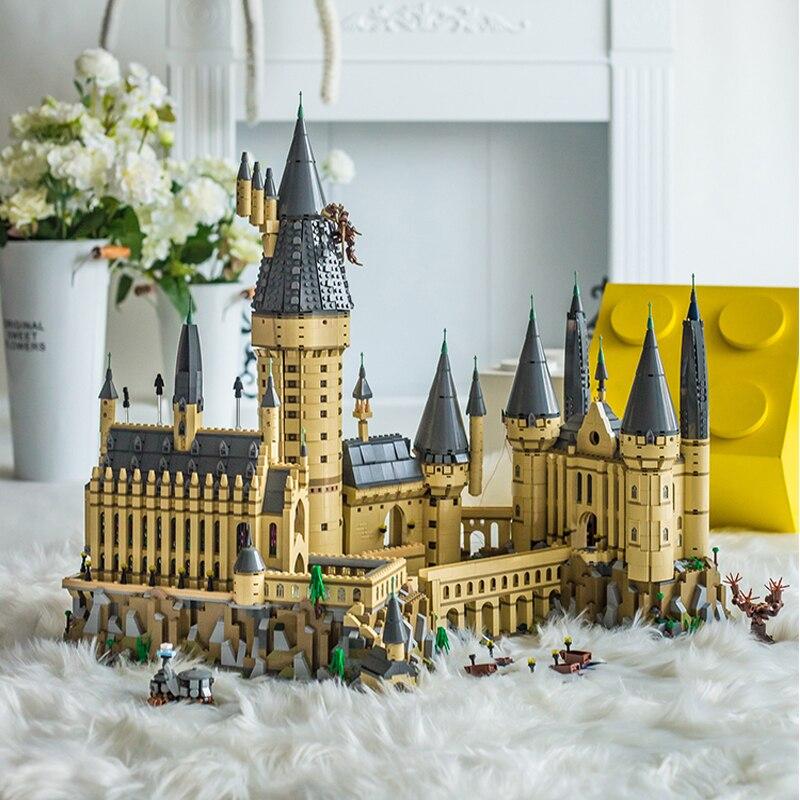 71043 Hogwart Castle Harryed Pottery Building Blocks Magic School Movie DIY Bricks Toys For Kids Boys Girls Child Gift