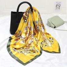 90cm Square Scarf Women Silk Scarf Spring and Autumn Variety of Headscarves Scarf Simple Accessories Fashion Bib Women Scarf cheap Erwachsene CN (Herkunft) Schal schal Tier Mode 80cm-100cm