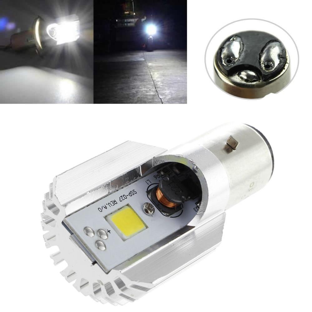 1x DC 6-80V 12W WL LED Motorcycle Headlamp COB BA20D Ampoule Moto-phares Jy25 19 Droship