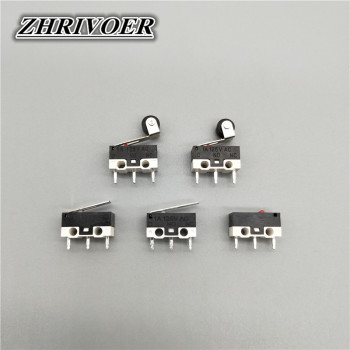 цена на 10Pcs Micro Limit Switch Push Button Switch 1A 125V AC Mouse Switch 3Pins Long Handle Roller Lever Arm SPDT 12* 6 *6mm TIAIHUA