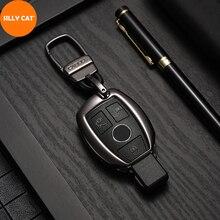 Car Keychain Remote Car Key Case Cover Fob Suit For Mercedes Benz A B GLC CLA GLA CLS S E C Class W204 W205 W212 W176 Key Case недорого