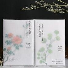 Retro plantas serie papel notas adhesivas Floral translúcido Bloc de notas diario copos estacionarios álbum de recortes decorativo Vintage