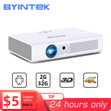 BYINTEK R19 300 אינץ מלא HD 1080P 3D 4K חכם Wifi אנדרואיד בית משחק LED DLP לייזר נייד מיני מקרן עבור Smartphone Tablet