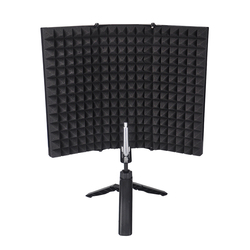 Microphone Compact With Tripod Stand Acoustic Tabletop Adjustable Accessories Isolation Shield Soundproof Easy Install Foldable