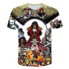 Breathable Mesh Cloth ONE PIECE Comic Series 3d T Shirt Luffy Tshirt Boys Kids T-shirt Cartoon birthday tshirt Gift