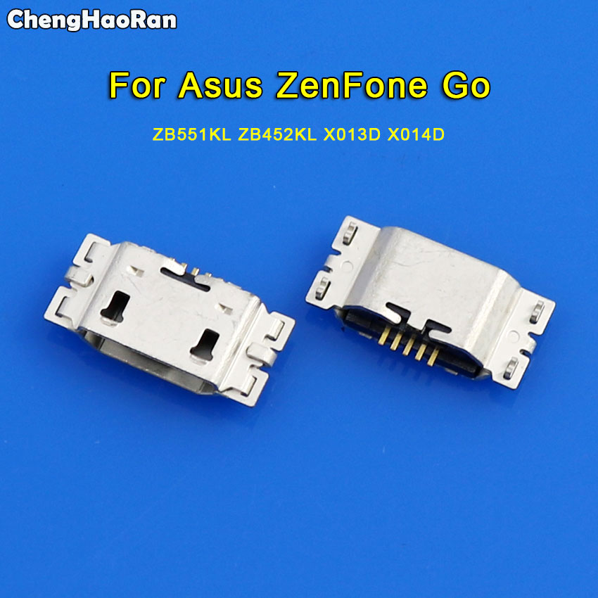 ChengHaoRan 2-10pcs For Asus <font><b>ZenFone</b></font> <font><b>Go</b></font> 5.5 TV <font><b>ZB551KL</b></font> X013D Micro <font><b>USB</b></font> Jack Mini Charge Connector Plug Charging Dock Port Socket image