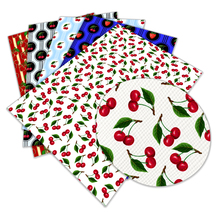Fabric Printed Fruit-Pattern Faux-Leather Clothes-Decoration Sewing Synthetic A4