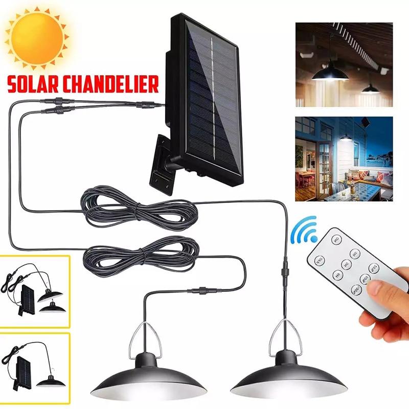 Split solar Light Chandelier IR remote outdoor solar wall lamp with line sunlight powered emergency Lantern for garden street