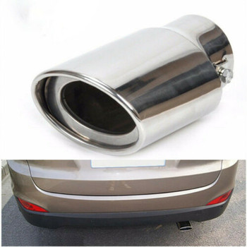 Universal Car Chrome Stainless Steel Rear Round Exhaust Pipe Tail Muffler Tip Throat Exhaust System universal car exhaust muffler tip high quality stainless steel pipe chrome trim modified car tail pipe exhaust system new