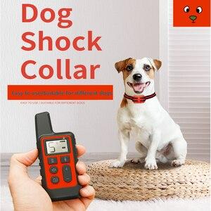 Image 5 - 500m כלב אימון צווארון עמיד למים נטענת שלט רחוק לחיות מחמד להפסיק לנבוח עם LCD תצוגה עבור כל גודל 40% הנחה