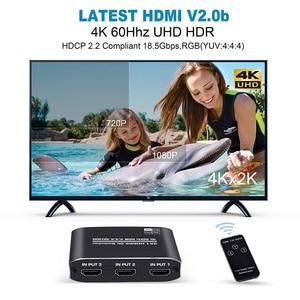 Image 4 - Navceker 4K 60Hz Mini 3 Port HDMI التبديل 2.0 4K الجلاد مقسم الوصلات البينية متعددة الوسائط وعالية الوضوح (HDMI) 1080P HDR 3 في 1 خارج ميناء المحور ل DVD HDTV Xbox PS3 PS4