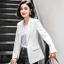 Korean Stylish Ladies Blazer Solid White Casual Loose Suit Jacket Simple Abrigos Retro Party Women Blazer Large Size MM60NXZ
