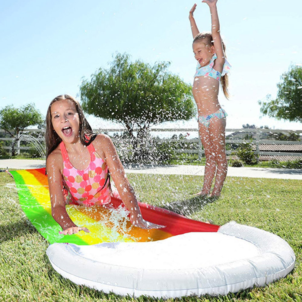 Water Slide Toys Summer Water Play Toys Children Water Slide Pools Inflatable Sprinkler for Adult Kids Summer PVC Outdoor Toys