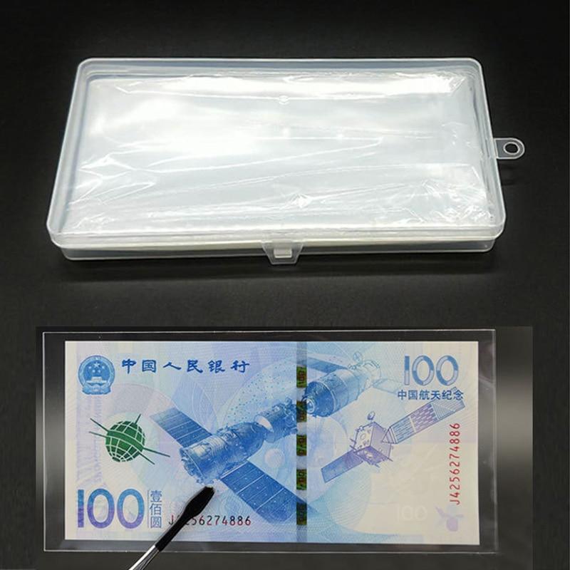 Banknotes Holder 100Pcs Coin Album Storage Bags Plastic Box 17.5*8.5cm PVC Page Paper Money Protective Bag Transparent Portable