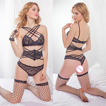 Hot Erotic Lingerie Sexy Costumes Sling Lace Perspective Temptation Underwear Sex Nightwear Adult Products