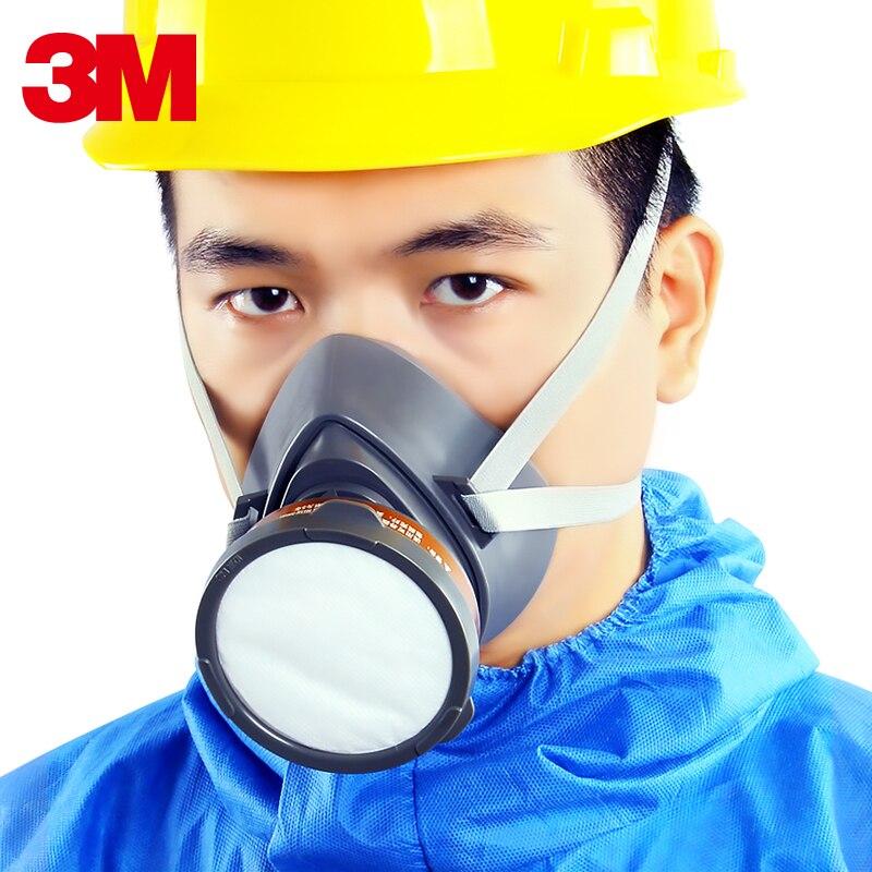Máscara respiradora de gas 3M 3200, mascarilla protectora contra pintura al vapor orgánica, pesticida industrial, antipolvo, químicos especiales, olor a gas