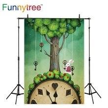 Funnytree Photo photozone ฉากหลัง Alice in Wonderland กระต่ายเทศกาลฤดูใบไม้ผลิอีสเตอร์พื้นหลัง photophone
