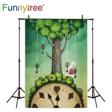 Funnytree photo photozone backdrop Alice in Wonderland Rabbit festival Spring easter background photography studio photophone