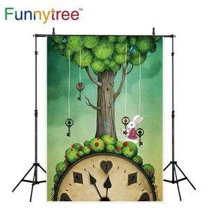Image 1 - Funnytree صور فوتوزون خلفية أليس في بلاد العجائب أرنب مهرجان الربيع عيد الفصح خلفية التصوير استوديو photophone