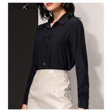 Silviye Silk shirt tops fashionable long sleeve shirt women tops blusas mujer de moda 2020