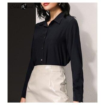 цена Silviye Silk shirt tops fashionable long sleeve shirt women tops blusas mujer de moda 2020 онлайн в 2017 году