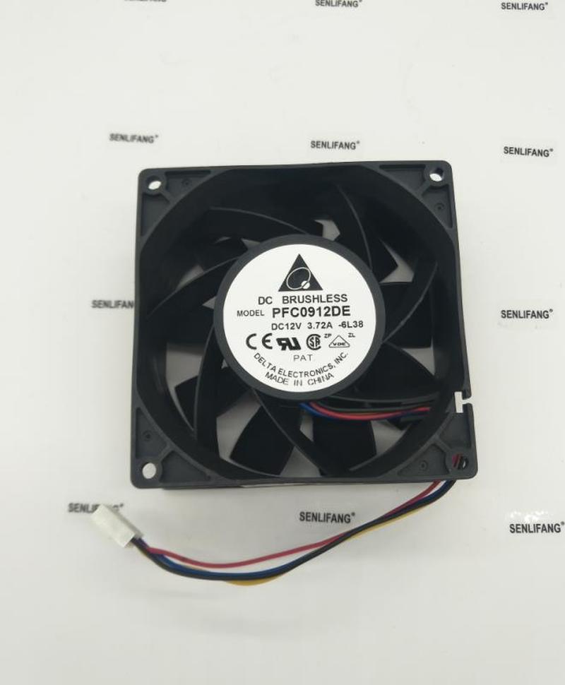 FOR IP68 Waterproof Cooling Fan For Delta PFC0912DE 9238 12V 3.72A 200CFM 8100RPM Powerful Fan