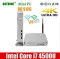 Мини-ПК GOTHINK с Wi-Fi  Intel Core i7 4500U  8 ГБ  512 ГБ  двухъядерный  четыре потока  1 8 ГГц  WIN7/8/10  LINUX OS  4K  карманный ПК  HDMI  VGA