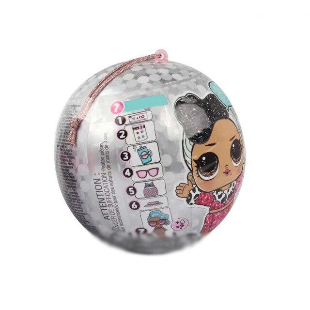 Lols muñecas pelota sorpresa DIY conjunto de juguetes para niñas jugar casa juguetes para niños L O L. ¡Sorpresa! Original lol muñecas juguetes Surpris Generación de muñecas DIY caja ciega Manual moda modelo muñeca juguete Regalo 1 Uds Radom enviado