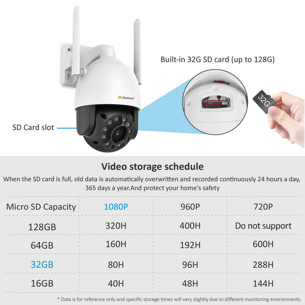Jennov 2MPความปลอดภัยไร้สายIPกล้อง 1080Pกล้องวิดีโอเสียงWIFIกล้องHD IR Cutด้านนอกONVIF