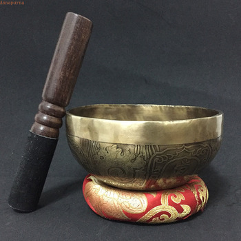 Genuine Nepal  Chakra  Singing Bowl  Yoga Buddha Sound Therapy Meditation Bowls  Copper Handmade  Buddhism Decoration