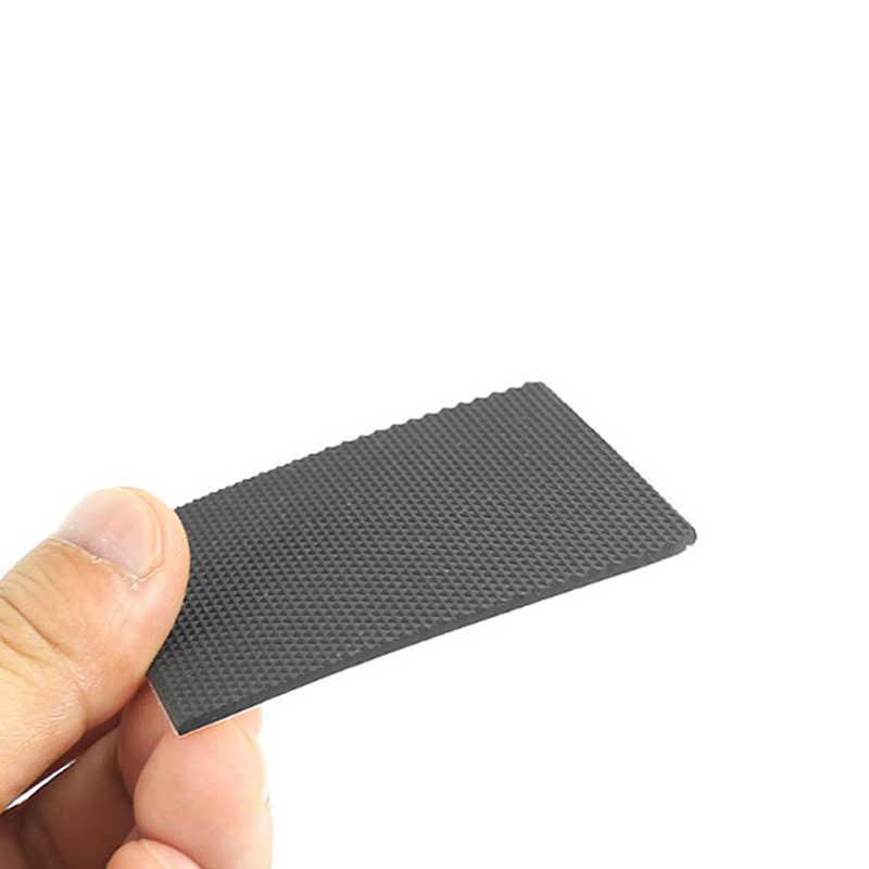 1 par de resina cuadrada negra antideslizante estera duradera de zapatos de tacón alto Protector de suela de goma almohadillas cojín plantilla alta etiqueta engomada del talón