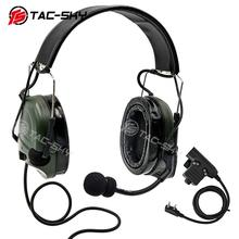 TAC-SKY military noise reduction pickup tactical headset COMTAC I silicone earmuff version FG+ U94 PTT walkie-talkie accessories