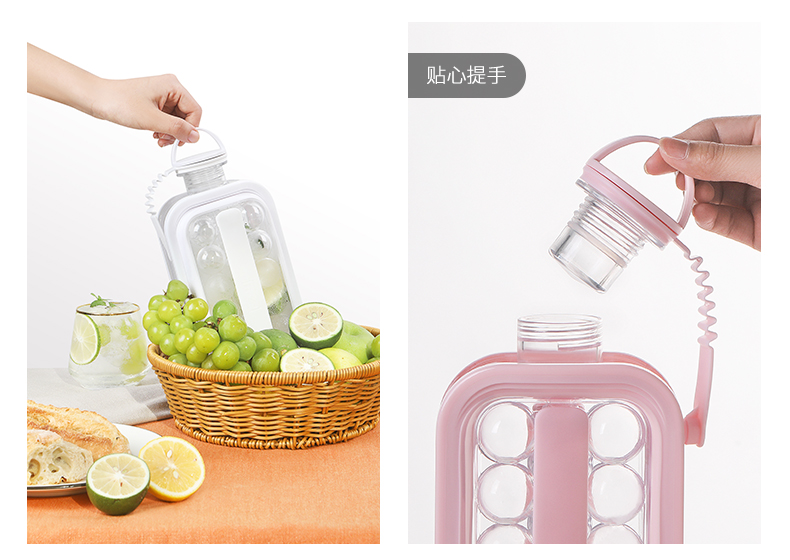 2 In 1 Kettle Style Ice Cube Mold Whisky Ice Ball Mold Creative Ice Box Ice Making Mold Cube Tritan Copolyester Cool Kettle