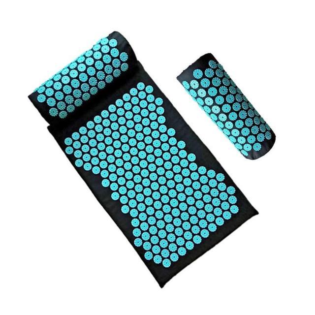 Cojín almohada de masaje de acupuntura para aliviar el dolor corporal, estera con puntas para masaje de acupuntura, esterilla para Yoga, cojín para relajar músculos