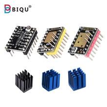 Biqu pro motor de passo tmc2208 tmc2100 tmc2130 v1.1 spi mks driver de passo mudo para impressora 3d placa de controle skr v1.3