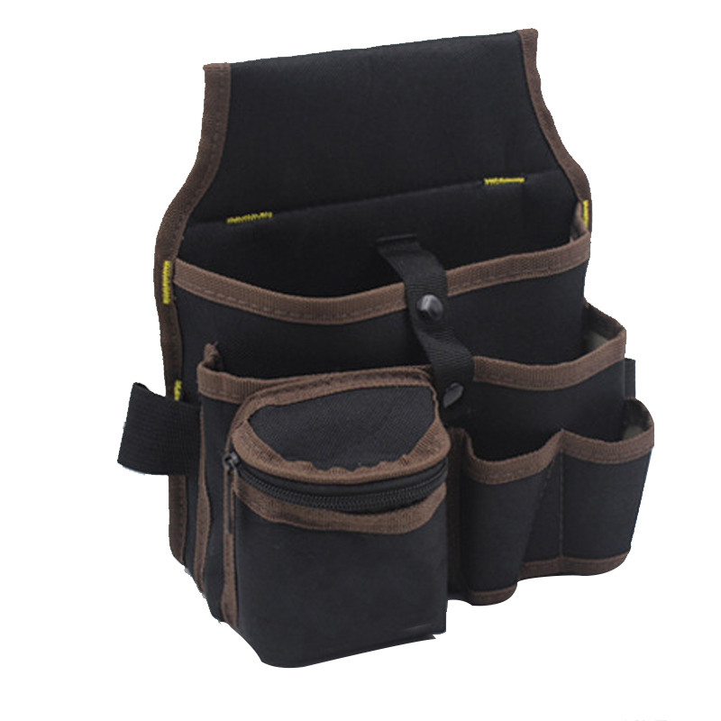 Urijk Tool Bag High Capacity Waist Pockets Electrician Tool Bag Oganizer Carrying Pouch Waist Pocket Case Tools Apron Belt Bag